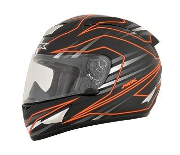 AFX fx-95 principal naranja Full Face casco de moto, color naranja, tamaño