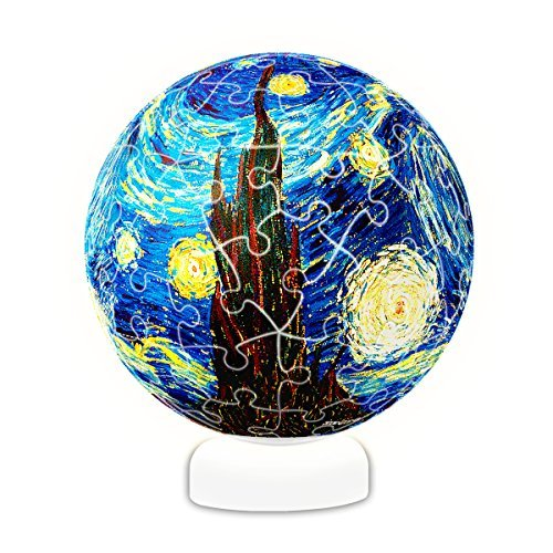 Pintoo - J1013 - Vincent van Gogh - The Starry Night, June 1889 - 60 Piece Plastic Puzzle Sphere -