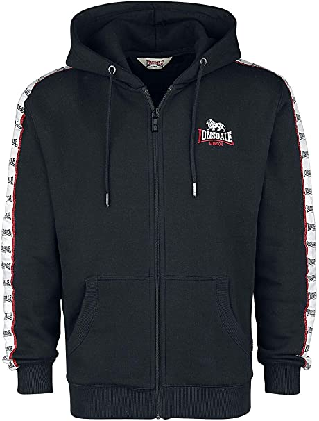 Lonsdale London Herren Rayless Hooded Sweatshirt: