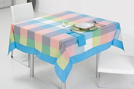 Es tela tovaglia filo colorato pinot confeccionado con applique