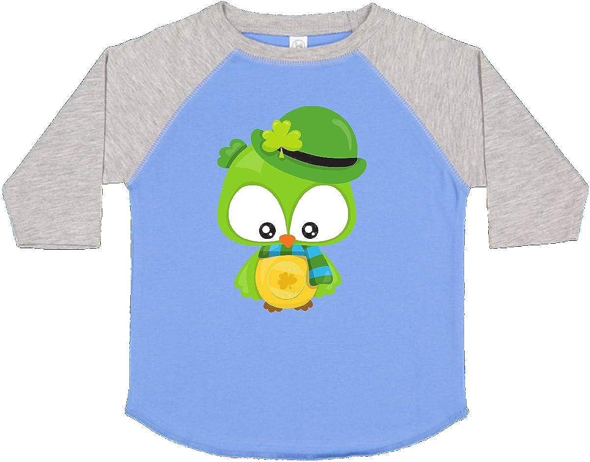 Green Owl Clovers Toddler T-Shirt inktastic Saint Patricks Day Owl