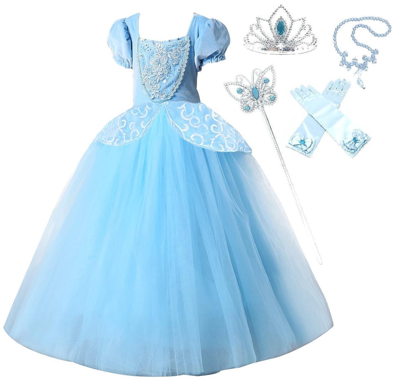 Amazon.com: Disney Cinderella Costume for Kids Size 11/12 Blue: Toys ...