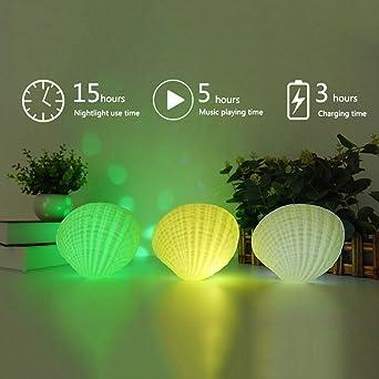 Srfar Multifunktion Nachtlicht Bluetooth Lautsprecher Led