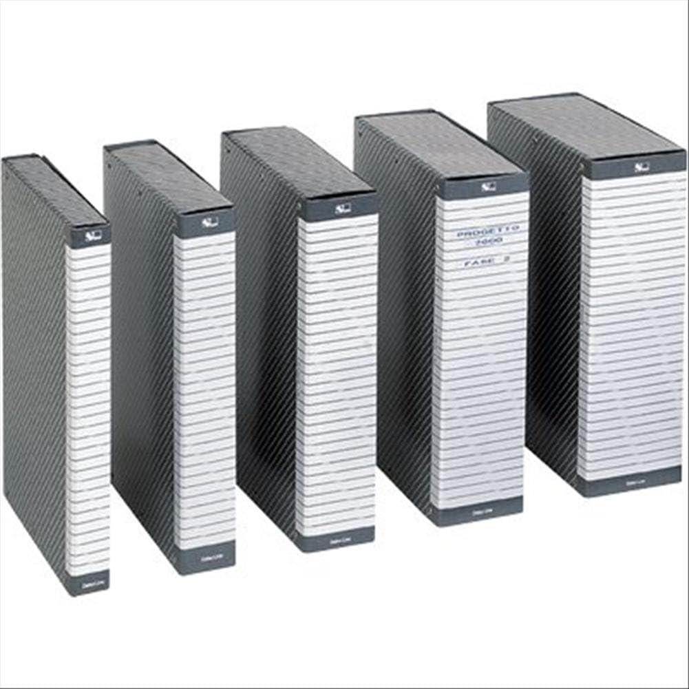 dim Confezione da 5 pezzi 390386090 ESSELTE C86 DELSO ORDER cartella progetti Giallo 25 x 35 cm dorso 6 cm