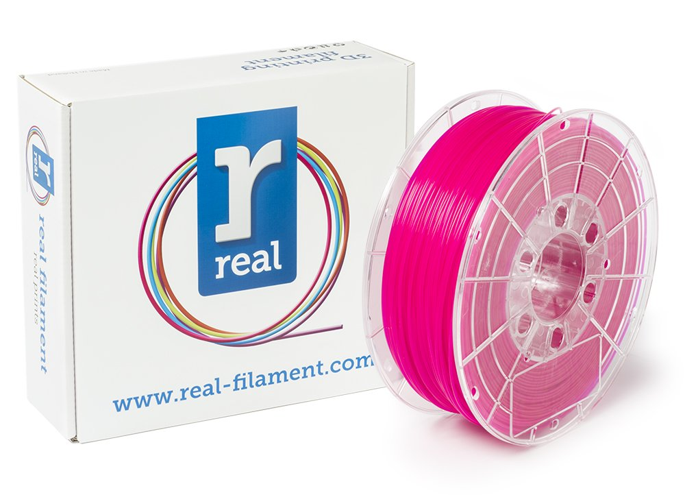 Real Filament 8719128329772 Real PLA, Spool of 1 kg, 1.75 mm, Fluor Pink NLPLAFPINK1000MM175