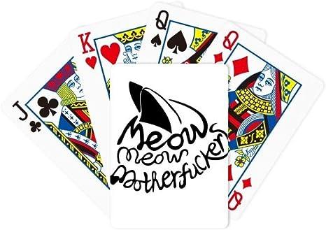 Meow Meow Motherfucker Cita DIY diseño póquer Juego de Cartas Mesa Juego de Mesa Regalo: Amazon.es: Deportes y aire libre