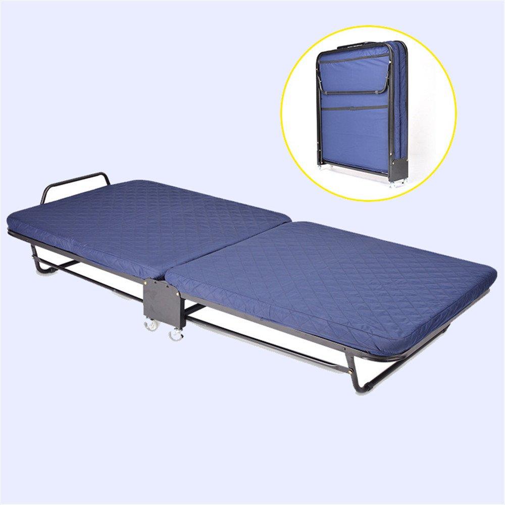 Luqifei Klappbett Camping im Freien Barbecue Beach Klappbett/Single Walking Bed Klappbett Mehrzweck tragbares Klappbett leichte und tragbare Rahmen