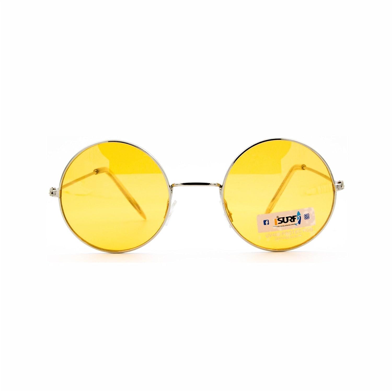 Occhiali Da Sole E Da Vista Marca Isurf Eyewear Modello Hippy Smal Round Vestibilita' Molto Piccola John Lennon Rotondi Tondi . (viola Chiaro Trasparente) ORu8EpD6R