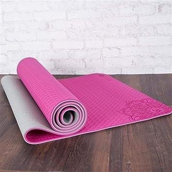 Antideslizante TPE Dature Yoga Mat 6mm Fitness Mat Fitness ...