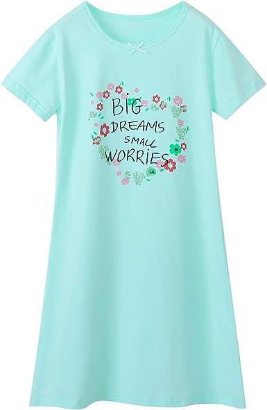 BLOMDES camisón para niñas Ropa de Dormir de algodón de Flores por 3-12 años: Amazon.es: Ropa y accesorios