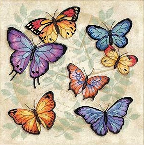 Dimensions 'Butterfly Profusion' Counted Cross Stitch Kit, 14 Count Aida, 11
