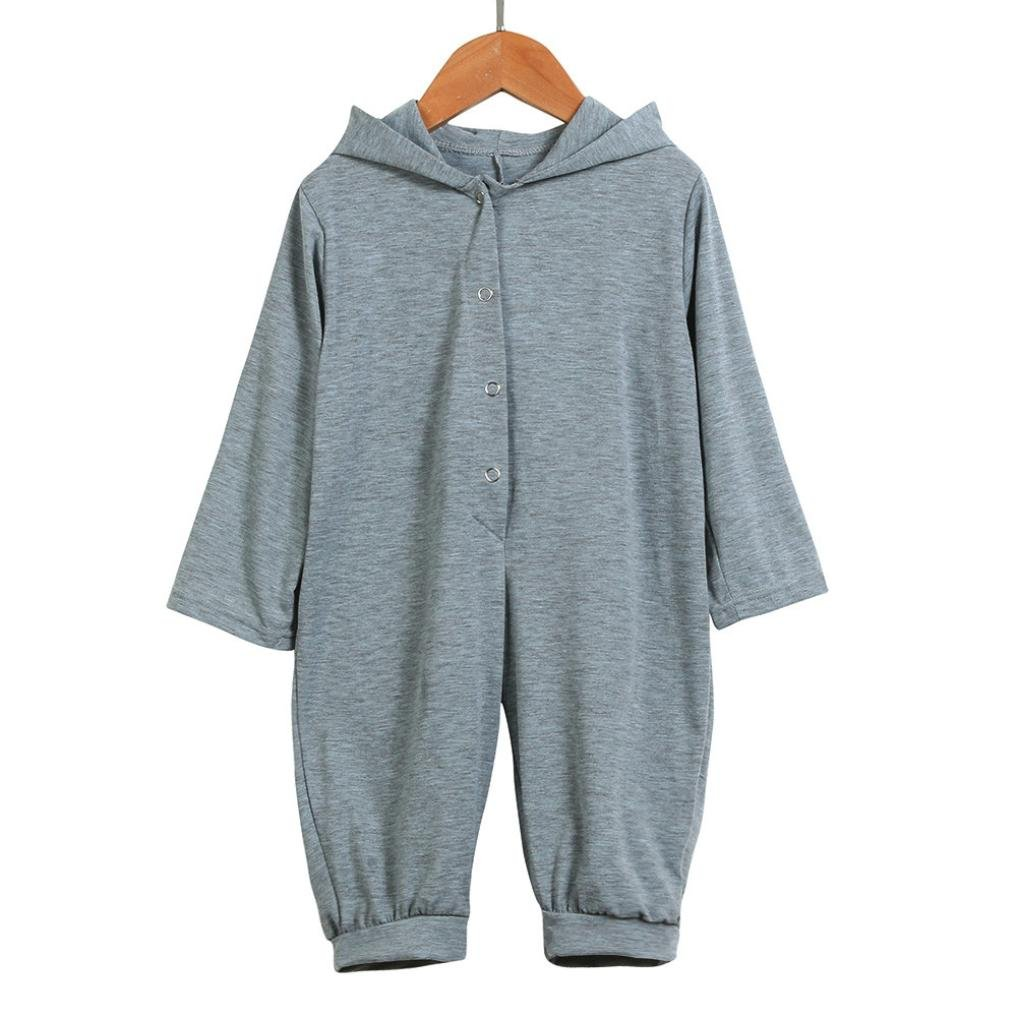 Boy Girl Dinosaur Hooded Baby Romper Outfits Clothes Warm Cotton Jumpsuit Bodysuit Outfits Costume Long Sleeve Newborn Kids Pink Grey Cloth Set Deloito Newborn Infant Baby Romper