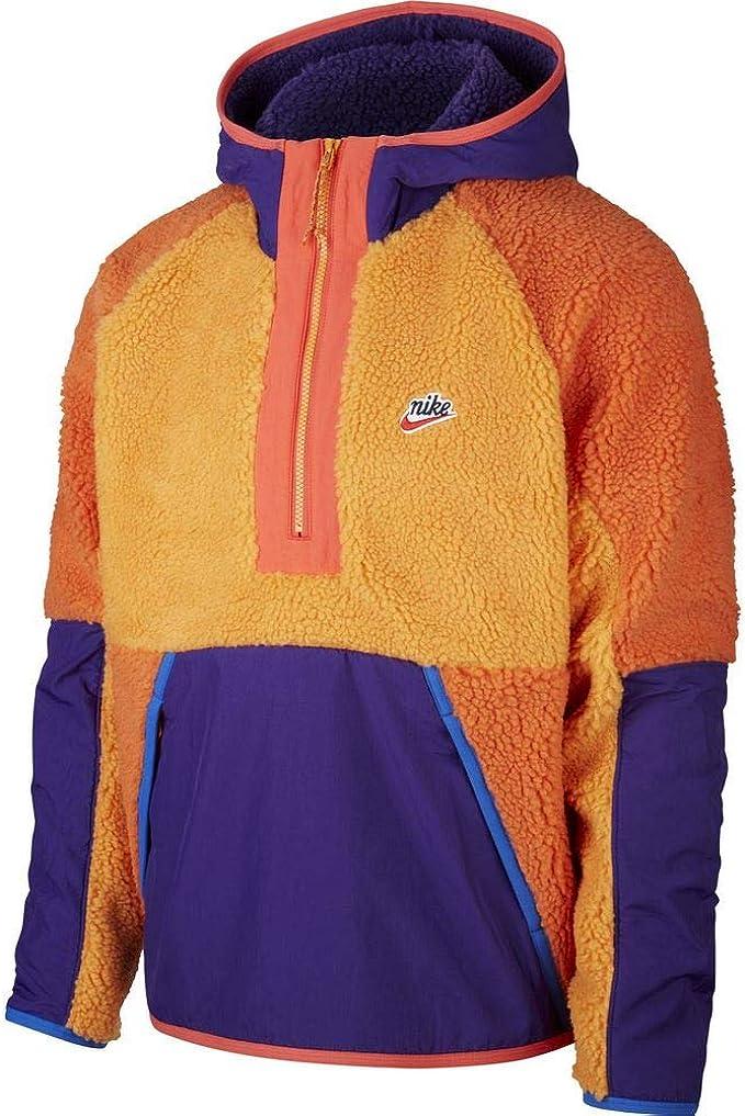 felpa nike arancione e viola