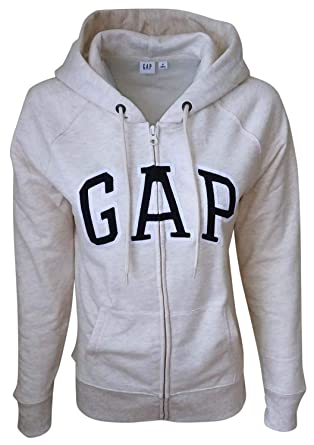 06ae5cddbf191 Amazon.com: GAP Womens Fleece Arch Logo Full Zip Hoodie: Clothing