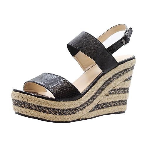 Señoras Alto Tacones Cuña Alpargatas Plataforma Sandalias tamaño 36-41: Amazon.es: Zapatos y complementos
