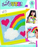 Arts & Crafts : Colorbok 61904 Rainbow Learn To Sew Needlepoint Kit, 6-Inch by 6-Inch, Yellow Frame