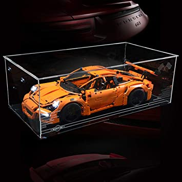 Vonado Acrylic Display Box For Porsche 911 Gt3 Rs 42056 Technic Race Car Building Blocks Bricks Gift To Children Friends Brother Boys And Girls And