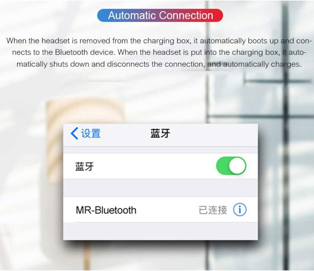 Luckiests Auricolare Bluetooth Stereo 8D Auricolari Wireless Headset 8D in-Ear Sport Mini Impermeabile Cuffie in-Ear