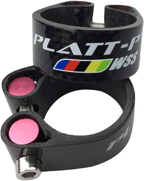 PLATT - Abrazadera para sillín de Bicicleta (Fibra de Carbono ...