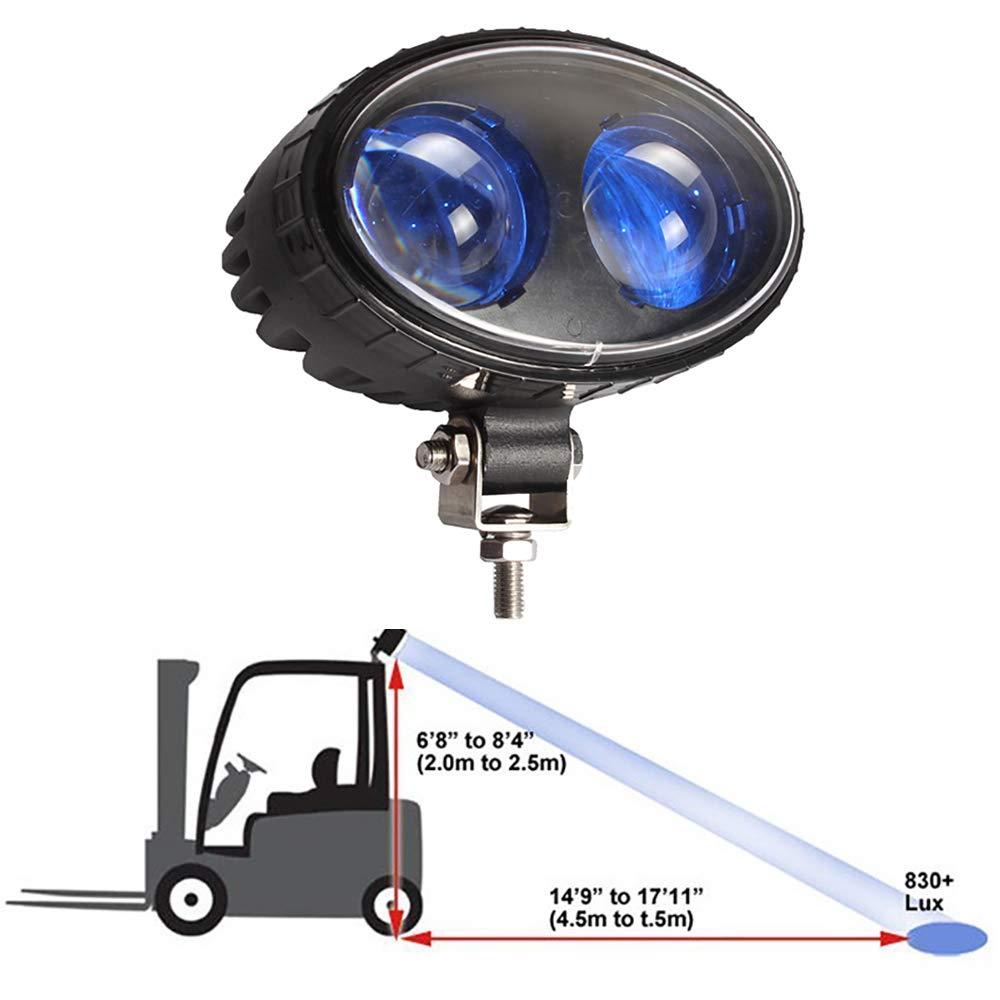 Fuguang LED Forklift Safety Light Blue Spot Light, Warehouse Safe Warning Light 8W Led CREE Chip 10V-100V Wide Voltage,250LM by Fuguang (Image #6)