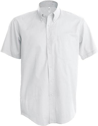 Kariban - Camisa Manga Corta Modelo Oxford Cuidado fácil (Tallas Grandes) Hombre Caballero - Trabajo/Boda/Fiesta: Amazon.es: Ropa y accesorios