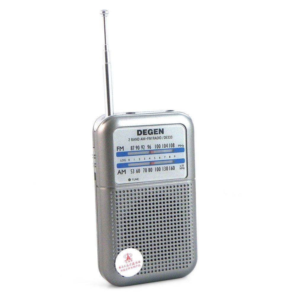 DE333 FM/AM Radio Receiver Mini Handle Portable Two Bands DEGEN Radio