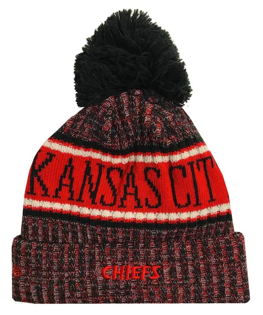 3c0587d1 Amazon.com : New Era Knit Denver Broncos Biggest Fan Redux Sport Knit Winter  Stocking Beanie Pom Hat Cap NFL : Clothing
