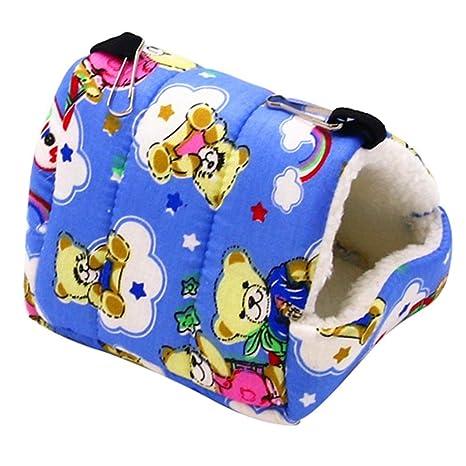 GLOBEAGLE Hamster Nest Mascota Animal Nido Peluche pájaro Cueva Jaula Caliente para Colgar Cama Caseta de