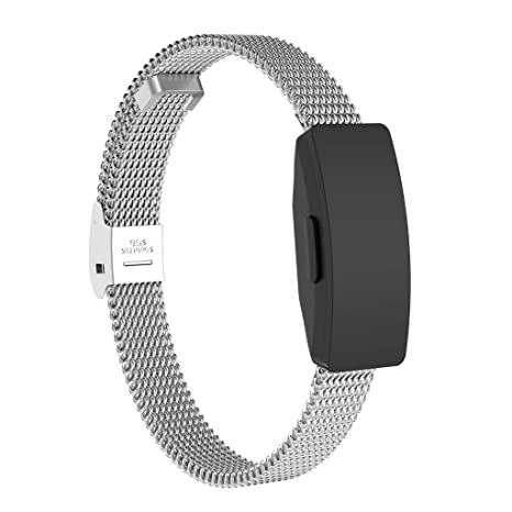 Amazon.com: Smart Watch Band Stainless Steel Mesh Replacement Watch Band + Film for Fitbit Inspire/Inspire HR Banda de reloj inteligente (Silver): Car ...