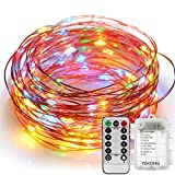 Tools & Hardware : YIHONG Fairy Lights 8 Modes String Lights Battery Operated 39FT 120 LED Fairy String Lights Remote Control Firefly Lights for Wedding Halloween Thanksgiving Christmas Party Decor (Multicolor)