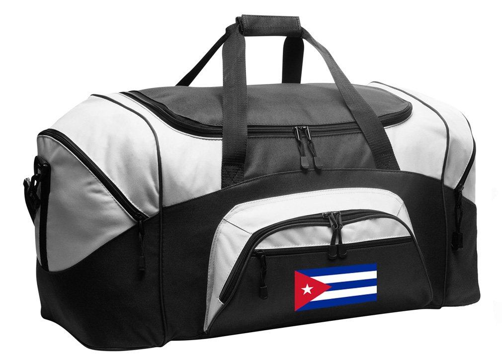 LARGE Cuban Flag Duffel Bag Cuba Suitcase or Gym Bag For Men Or Her