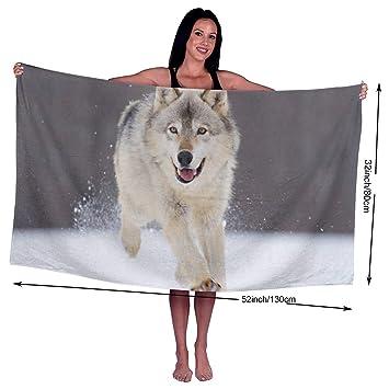 Toallas de baño KSIY Cool Wolf extra grandes y suaves, lavables a máquina, de 32 x 51 pulgadas: Amazon.es: Hogar