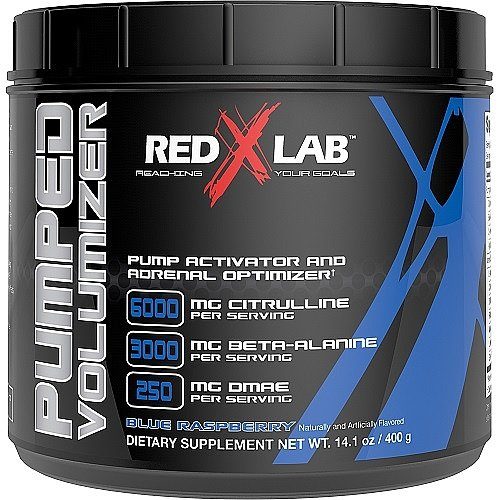 Red X Lab Pumped Volumizer Blue Raspberry 21 Servings