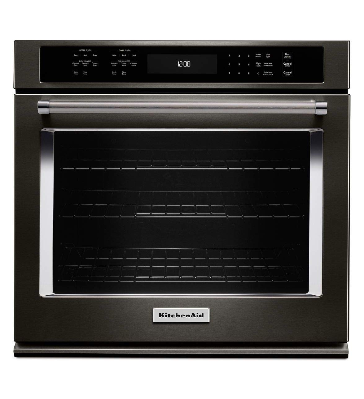 KitchenAid KOSE500EBS 30 Inch Single Electric Wall Oven with 5.0 cu. ft. Even-Heat True Convection Oven, Self-Clean, Preheat, Temperature Conversion, Temperature Probe and Roll-Out Rack