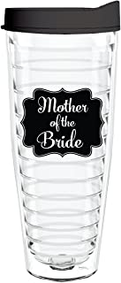 product image for Smile Drinkware USA-Mother of the Bride Chalkboard 26oz Tritan Insulated Tumbler with Lid and Straw