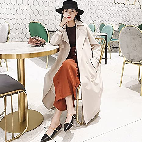 Las niñas Mayihang pelaje blanco largo abrigo largo coreano de resorte de rodilla,S,Arroz blanco: Amazon.es: Deportes y aire libre