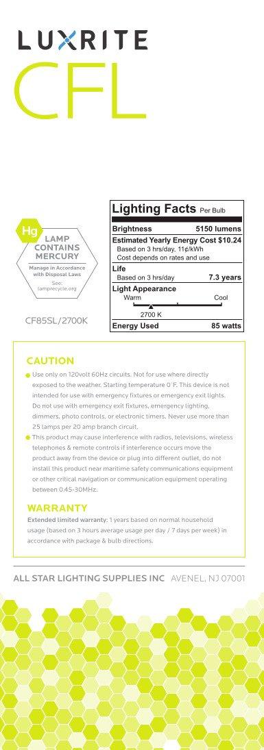 Luxrite LR20220 (12-Pack) 85-Watt High Wattage CFL Spiral Light Bulb, Equivalent To 350W Incandescent, Warm White 2700K, 5150 Lumens, E26 Standard Base by LUXRITE (Image #4)