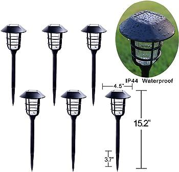 6-Pack Go2garden Solar Walkway Lights Outdoor