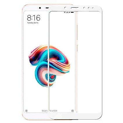 new concept e8a42 5301c CASE U Edge-to-Edge 5D Tempered Glass Screen Protector for Redmi Note 5 Pro  (White)