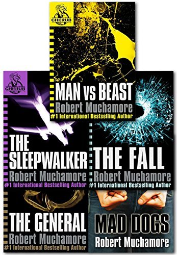 Cherub Series 2 Collection Robert Muchamore 5 Books Set (Books 6 To 10) (Man Vs Best, The Fall, Mad Dogs, The Sleepwalker, The General) (Cherub Collection)