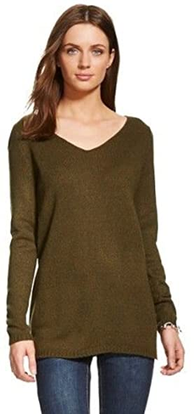 Merona Women's V-neck Tunic Sweater (XX-Large, Green) at Amazon ...