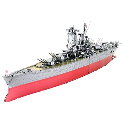 Fascinations Metal Earth ICONX Yamato Battleship 3D Metal Model Kit: Toys & Games