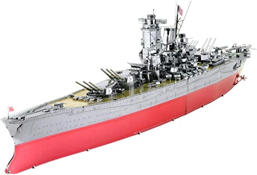Amazon.com: Fascinations Metal Earth ICONX Yamato Battleship 3D Metal Model  Kit: Toys & Games