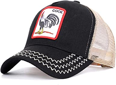 Gorra De Béisbol Patrón De Bordado Animal Gallo Unisex Sombrero ...