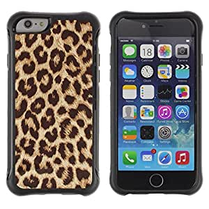 Lady Case@ Cheetah Golden Brown Animal Pattern Rugged Hybrid Armor Slim Protection Case Cover Shell For iphone 6 6S CASE Cover ,iphone 6 4.7 case,iphone 6 cover ,Cases for iphone 6S 4.7