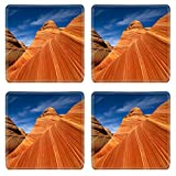 MSD Square Coasters Non-Slip Natural Rubber Desk Coasters design: 5030283 Red rocks of Pariah canyon in Utah Southwest USA