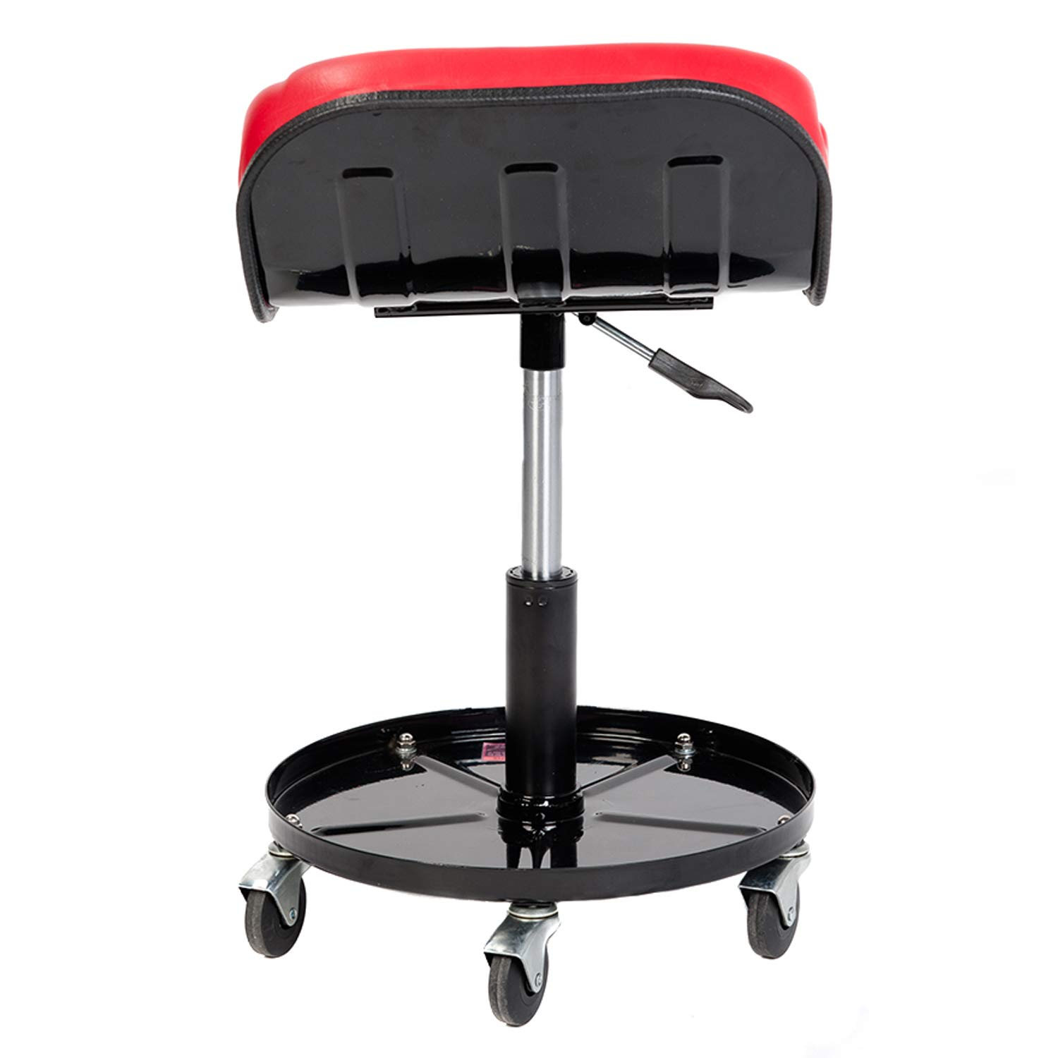 RTJ 300 lbs Capacity Pneumatic Mechanic Roller Seat Adjustable Rolling Stool, Red by RTJ (Image #3)