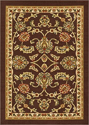 Well Woven Kings Court Tabriz Traditional Brown Oriental 7 10 x 9 10 Indoor Outdoor Area Rug