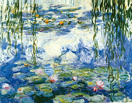 - NEW Water Lilies by Claude Monet Hand Painting by Vincent Van Gogh Reproduction - Oil Painting Reproduction on Canvas Wall Art for Home Office Decorations- 100% Hand Painting - Ready to Hang 20