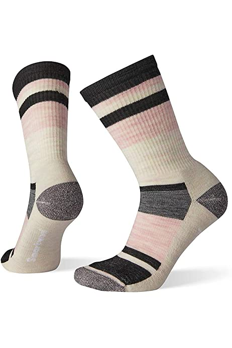 Medium Cushioned Wool Performance Sock Smartwool Hiking Crew Socks / Women/'s Striped